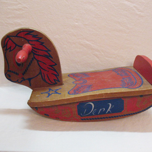 Vintage Kids Small Wood Rocking Horse 1940-50s Very Good Vintage Condition