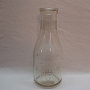 Vintage Hunky Dory Quart Embossed Dairy Milk Bottle 1920-40s Excellent Condition