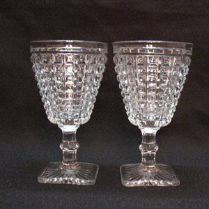 Vintage Imperial Glass Co. 2 Monticello Water Goblets 1920-60s Very Good Condition