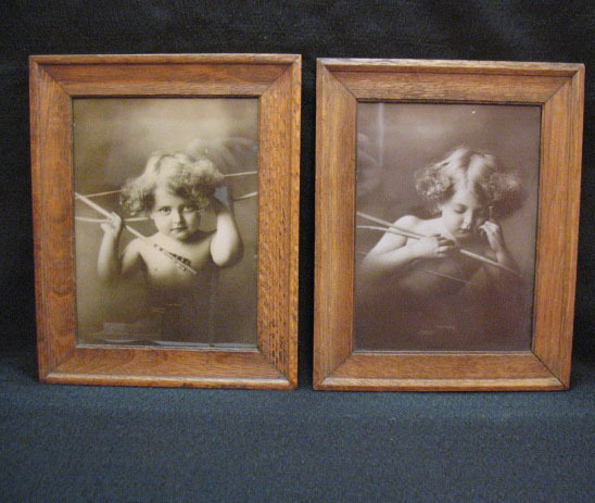 Vintage Antique Cupid Awake/Asleep 1897 Prints by M.B. Parkinson Very Good Condition