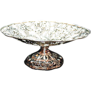 Vintage Unique Silver Plated Metal Fruit Basket/Bowl 1960s Very Good Condition