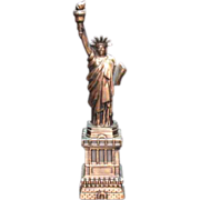 Large Vintage Metal Souvenir 12 inch Tall Statue of Liberty 1960s Excellent Condition