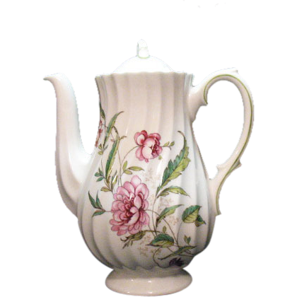 Vintage Royal Doulton Fine Bone China Mini Coffee Pot Clovelly Pattern 1941-61.