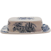 Vintage Wedgwood Countryside ¼ Lb Butter Dish Like New