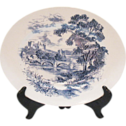 Vintage Wedgwood Large Oval Platter Blue Countryside Pattern Very Good Vintage Condition