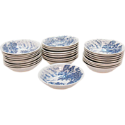 Vintage Wedgwood Fruit/Berry Bowls Countryside Blue Pattern Very Good Vintage Condition