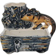Vintage Porcelain Victorian Era Lizard Match Holder Excellent Condition