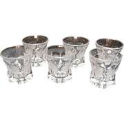 Vintage Six Fostoria Crystal Coin Glass Juice/Old fashion 9 oz. Tumblers 1958-82 Excellent Condition
