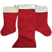 Old Christmas Stockings 1950s Very Good Condition