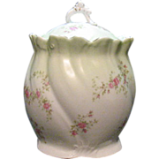 Vintage Habsburg Austria Porcelain Cracker Jar 1930s Excellent Condition
