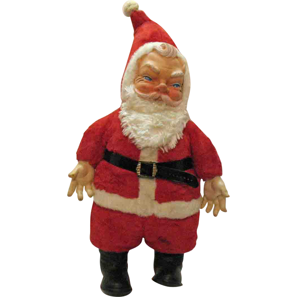 Vintage Large Older Santa Claus Doll 1950s Very Good Condition