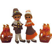 Vintage Thanksgiving Pixies Very Good Condition