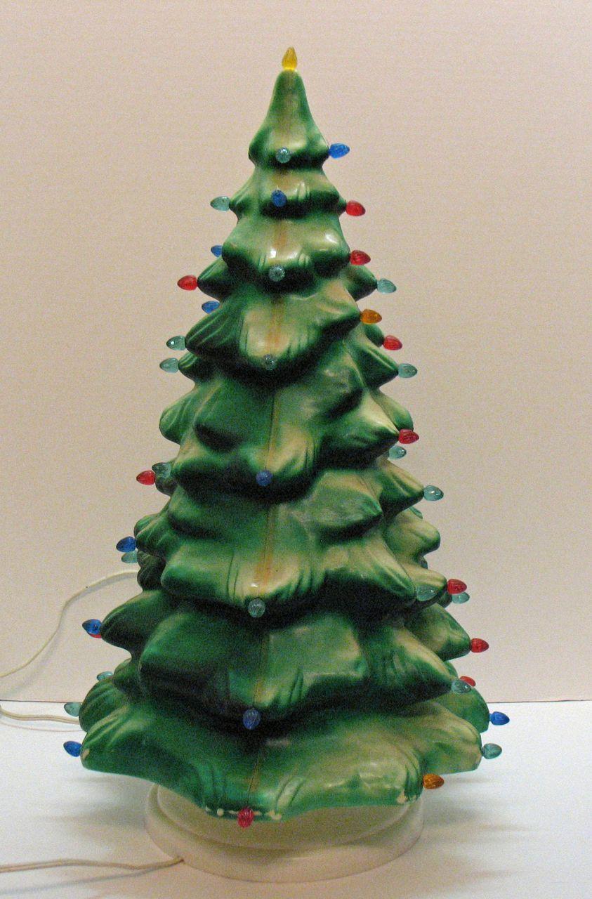 Vintage celluloid light up christmas tree plastic inserts