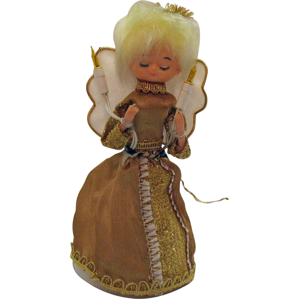 Christmas Angel Lighted Display 1960s Very Good Condition