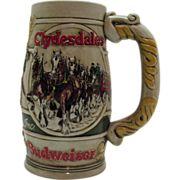 Vintage Budweiser Promotional Advertising Beer Stein 1980s Very Good Condition