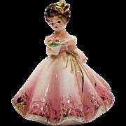 Vintage Black Eyed Josef Original Lady Figurine 5 ½ Inches Very Good Condition