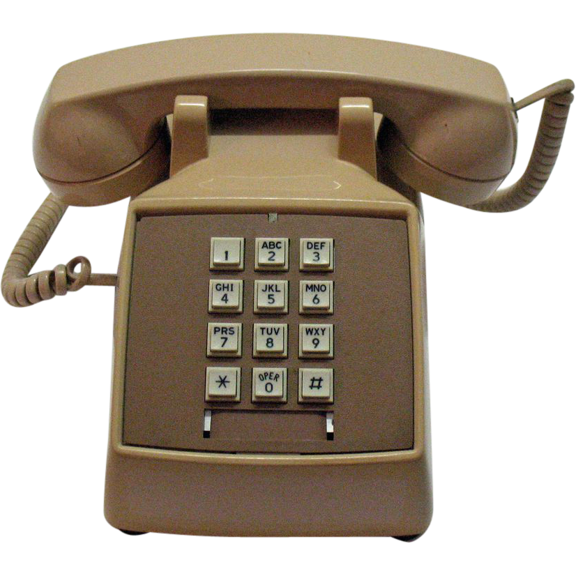 Vintage Touch Tone Phone Tan Colored Works 1970-80s Very Good Condition