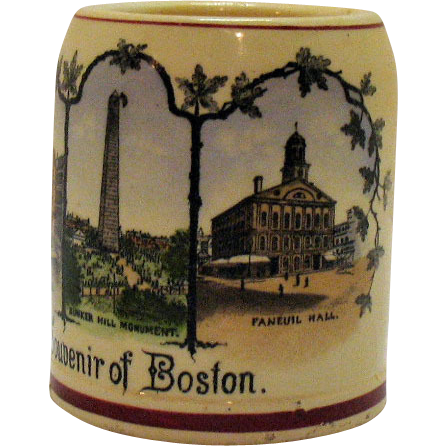 Vintage Boston Kid's Souvenir Ceramic Cup Early 1900s Very Good Condition