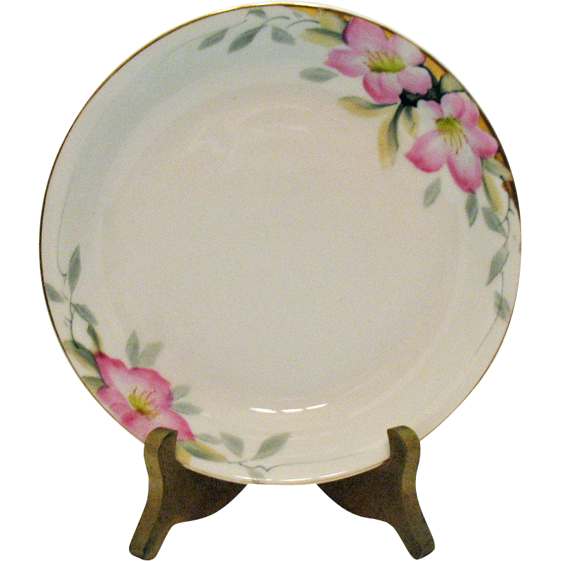 Vintage Noritake 8 Coupe Soup Bowls Azalea Pattern #19322 Very Good Condition