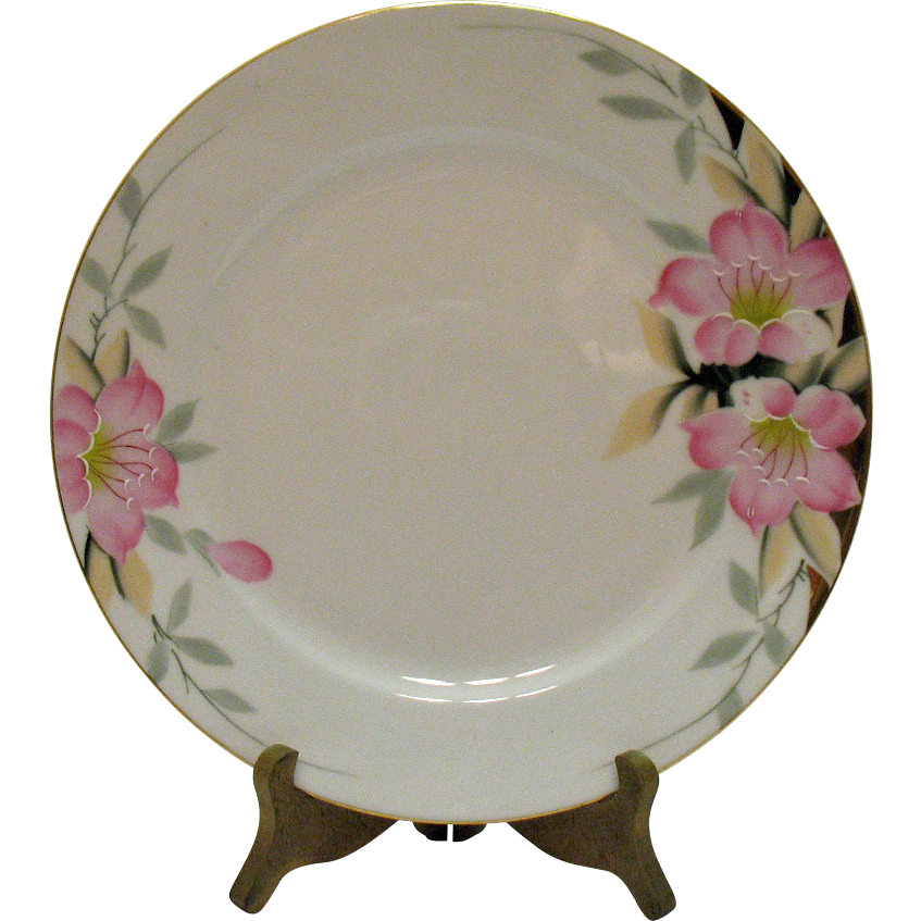 Vintage 8 Noritake Dinner Plates Azalea Pattern #19322 Very Good Condition