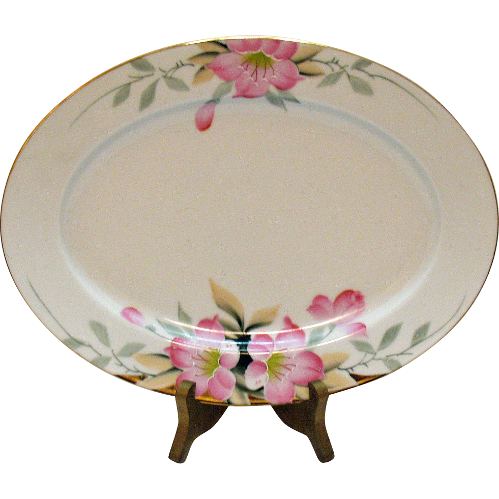 Vintage Noritake Serving Platter Azalea Pattern #19322 Very Good Condition