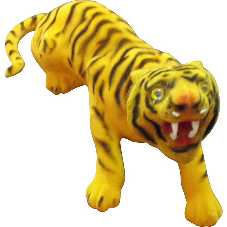 Vintage Bobble Head Fuzzy Tiger 1950s Very Good Condition