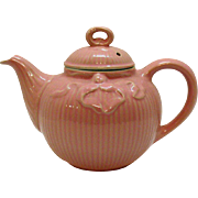 Vintage Pink Bowknot Tea Pot by Hall Victorian Style 1940s Very Good Condition