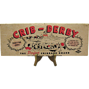 Vintage Crib-Derby Cribbage Board Game by Lowe 1950s Very Good Condition