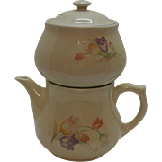 Vintage Drip-O-Lator Hall Coffee Pot made for Enterprise Aluminum Co Kadota All-China with Tulip Motif Very Good Condition