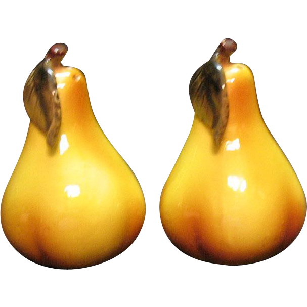 Vintage Pear Shaped S&P Shakers Good Condition