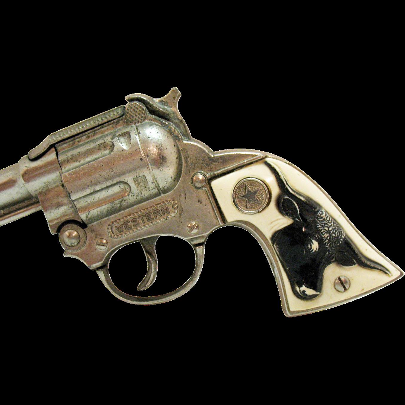 Vintage 1950s Hubley Western Metal Cap Gun For Spare Parts