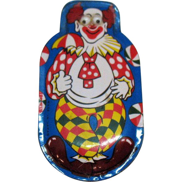 Vintage Clown Metal Clicker 1950s Works Good