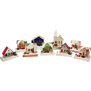 Vintage 9 Putz Houses 1930s Good Condition