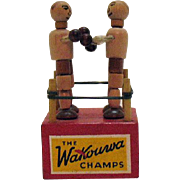 Vintage the Wakouwa Champs Push Bottom Wood Toy 1940-50s Very Good Condition