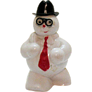 Vintage Hard Plastic Frosty the Snowman Candy Holder 1950s Good Condition