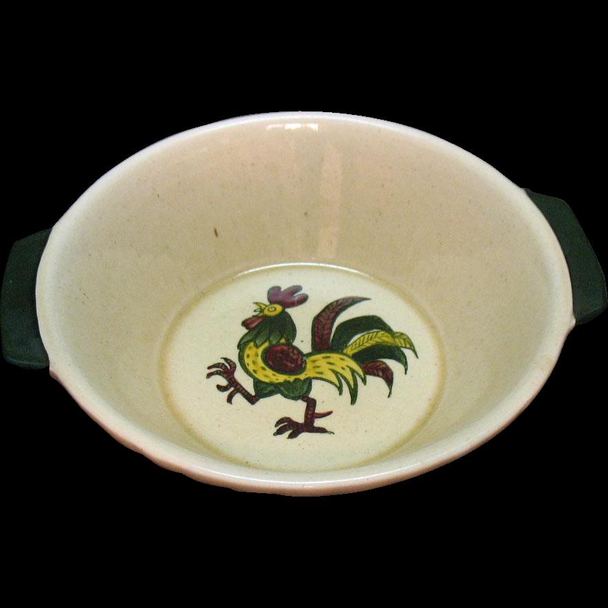 Vintage Metlox Vernon Poppytrail California Provincial 8 Inch Round Vegetable Bowl 1956-82 Very Good Condition
