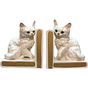 Vintage Lefton Cat Bookends 1953-71 Mint Condition
