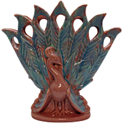 Vintage Royal Haeger Peacock Vase 1940s Very Good Condition