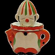 Vintage Ceramic Clown Juicer/Reamer 1920-30s Good Condition