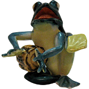 Vintage Occupied Japan Ceramic Frog Figurine 1946-52 Very Good Condition