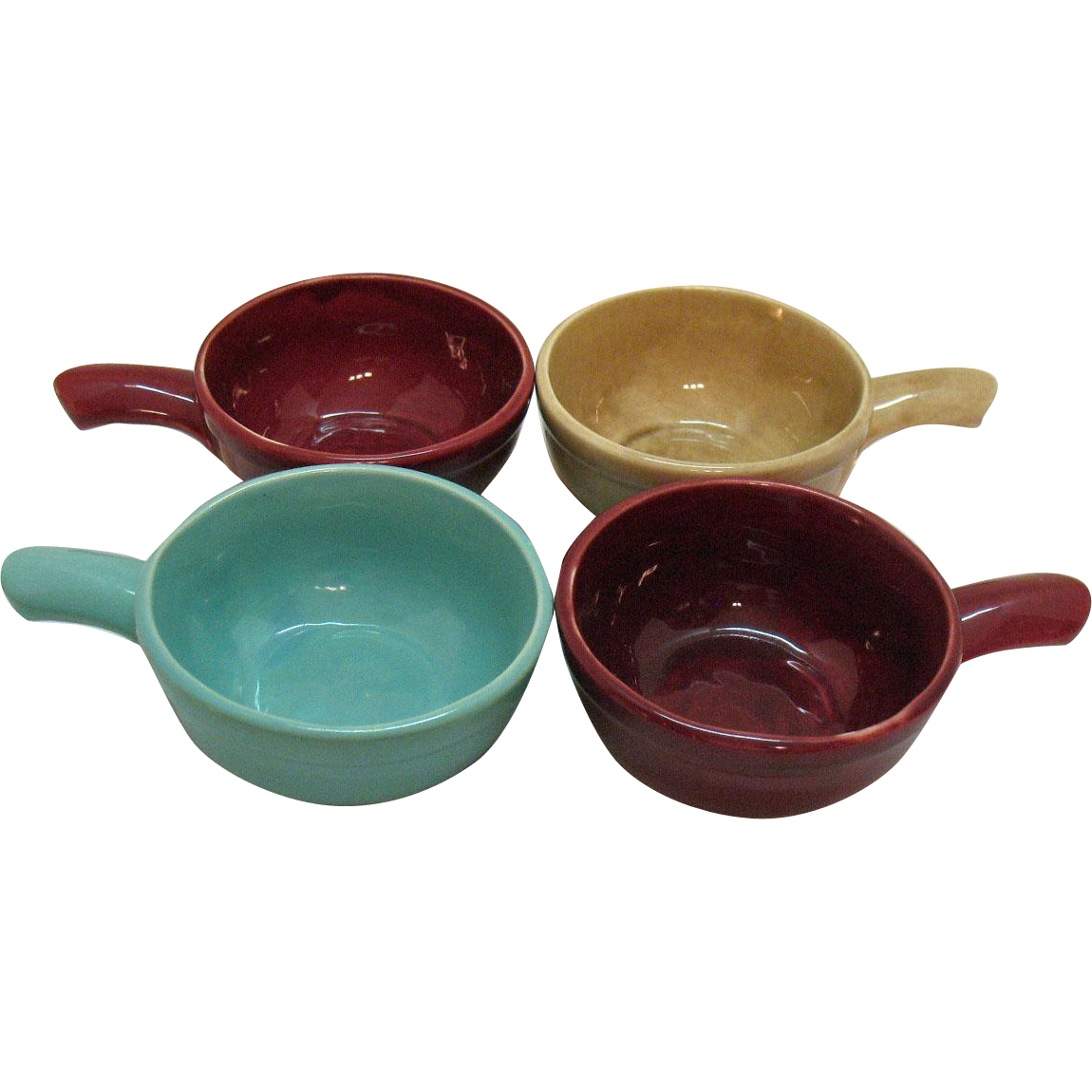 Vintage Heinz Advertising Pottery Soup Bowls by McCoy 1940s Very Good Condition