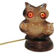 Vintage Ceramic Owl Nightlight 1960s Very Good Condition