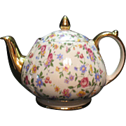 Vintage Sadler English Teapot Chintz Pattern 1940-50s Excellent Condition