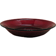 Vintage Anchor Hocking Royal Ruby Round Soup Bowl 1938-60s Good Condition