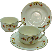 Vintage Two Sets of Jewel Tea Autumn Leaf Pattern Ruffled D Style Dinnerware 1936-76 Good Condition