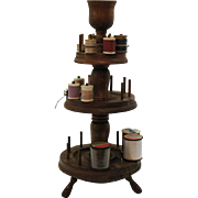 Vintage 3 Tiered Wooden Spool/Thread Holder 1940-50s Good Condition