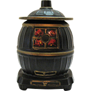 Vintage McCoy Pot Belly Stove Cookie Jar 1967 Very Good Condition
