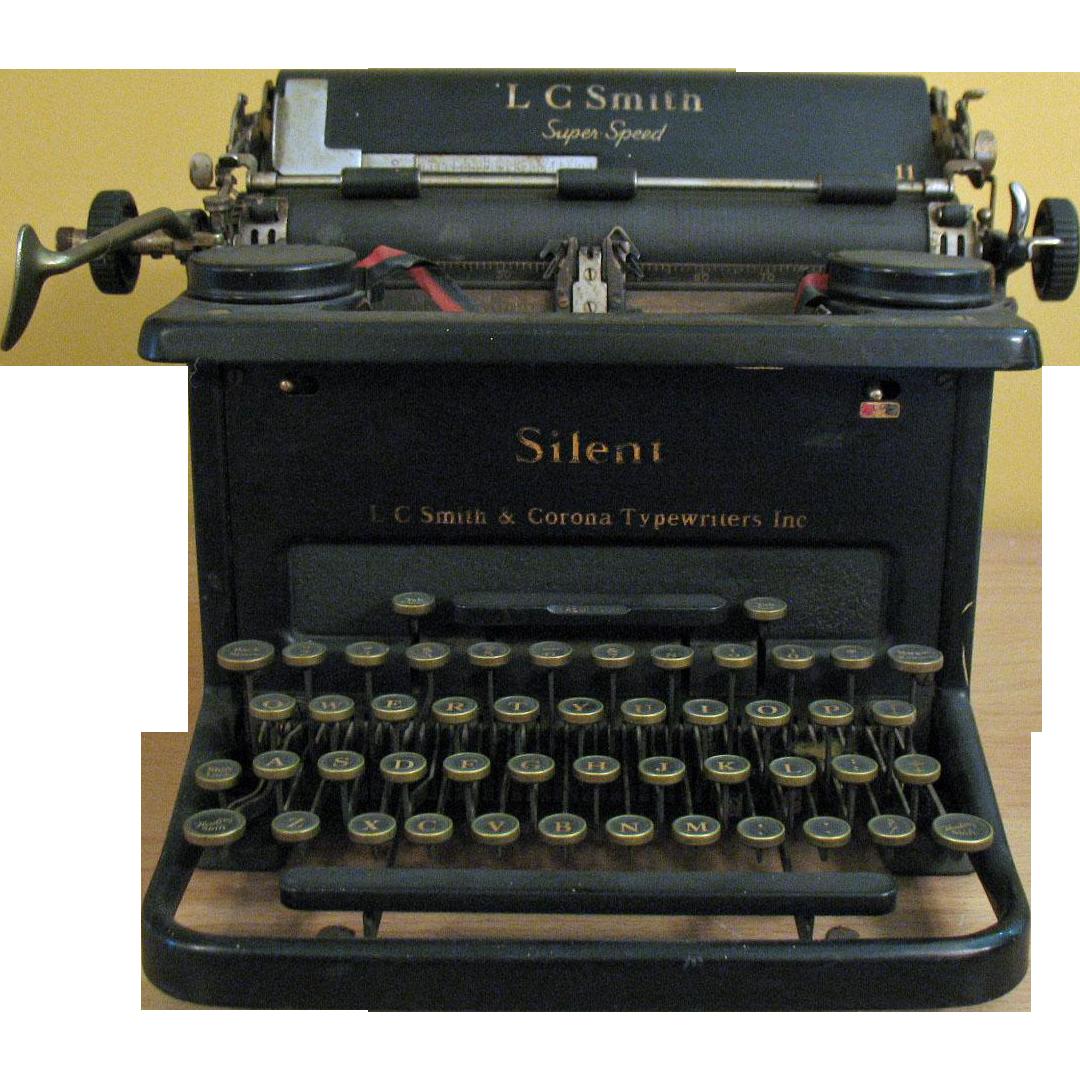 Vintage 1930s L.C. Smith & Corona Typewriter Good Condition