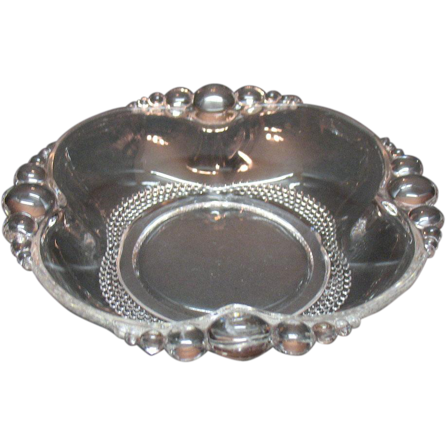 Vintage Duncan & Miller Bon Bon Bowl in Tear Drop Pattern 1936-55 Very Good Condition