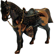 Vintage Metal Horse with Copper wash 1950-60s Good Condition